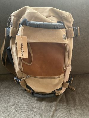 ibagbar Khaki New Backpack Convertible Duffle Bag Nice! for Sale in Camas, WA