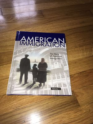 the story of american immigration book volume 1 for Sale in Newport News, VA