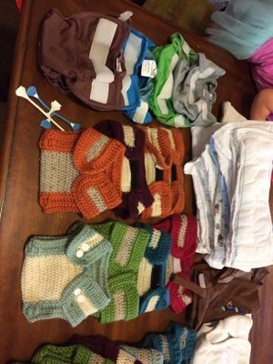 Cloth diaper lot: handmade Wool diaper covers, rumparooz, mother ease, etc for Sale in Richardson, TX