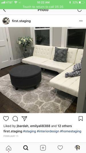 White futon couch for Sale in Boston, MA
