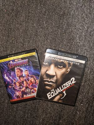 4K ultra HD Avengers:End Game & Equalizer 2 for Sale in Graham, WA