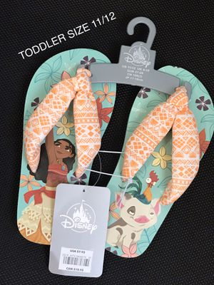 New Moana Flip Flops Toddler Size 11/12. (Nuevos). for Sale in Palmdale, CA