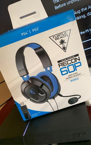 TURTLE BEACH RECON 60P AMPLIFIED GAMING WIRED HEADSET FOR PS4 for Sale in Oxon Hill, MD