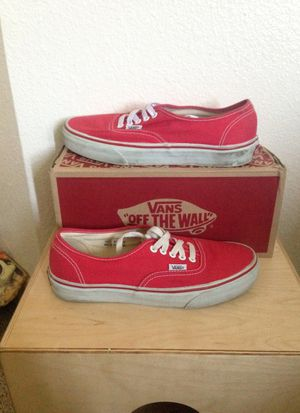 Red authentic vans for Sale in San Diego, CA