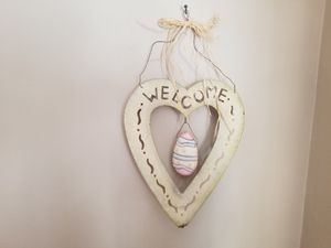 Rustic metal welcome sign with seasons for Sale in Walpole, MA