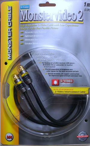 S-Video Cable by Monster Cable 3.3ft for Sale in Artesia, CA
