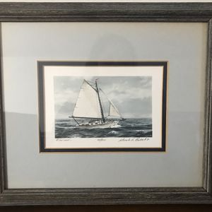 "Framed Picture ""Windward"" By Gerald Lubeck for Sale in Middletown, CT"