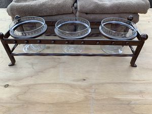 """Rustic modern 17"""" glass plant candle trinkets holder for Sale in Phoenix, AZ"""