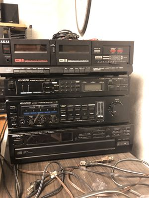 Also tape and Kenwood CD player, radio,and amplifier for Sale in Mentor, OH
