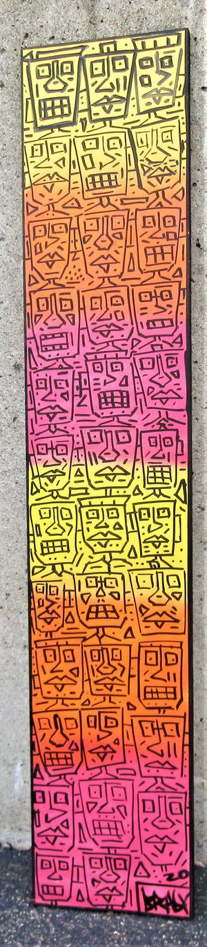 48x9.5 ORIGINAL SIGNED PAINTING. PAINT ON BOARD. BRACKETS APPLIED! for Sale in Cincinnati, OH