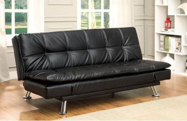 Brand New Black Leather Futon Sofa Sleeper for Sale in El Monte,  CA
