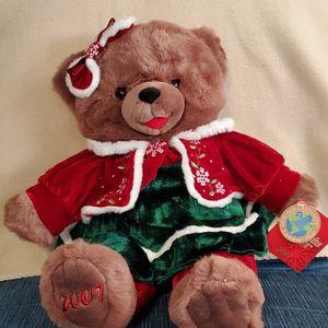 "2007 DanDee Teddy Bear Snowflake Teddy Girl 20"" & a 13"" Snowflake Friend Teddy Girl. for Sale in Riverside, NJ"