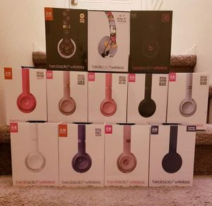 Beats solo 3 wireless bluetooth headphones by dr dre and Apple get 2 for $200 or 1 for $130 for Sale in Chula Vista, CA