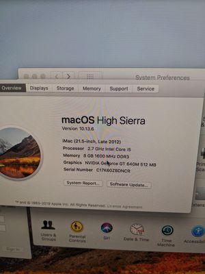 2012 iMac for Sale in Santa Fe Springs, CA