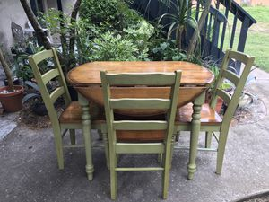 extendable hardwood dining table with chairs for Sale in Largo, FL