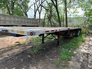 Útility trailer flatbed year 1999 good condition combo price $ 10,500 for Sale in Houston, TX