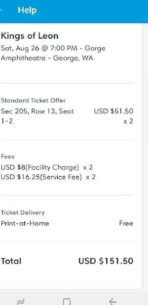 Kings of Leon tickets for Sale in Harvey, ND