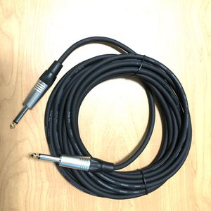 20 ft New Pro High Quality Low-Noise 20 AWG Guitar Cable for Regular and Bass with 2 straight 1/4 Gold Plated input Jack, works with Fender, Ibanez, A for Sale in Claremont, CA