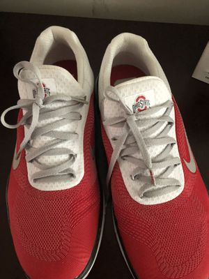 2 pairs of Nike's. Size 10.5. Ohio state shoes only worn once. The other Nike's maybe 4 times. 70$ for black and orange. 60$ for Ohio state for Sale in Cleveland, OH