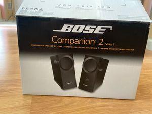 Bose companion 2 series multimedia speaker system for Sale in Littleton, CO