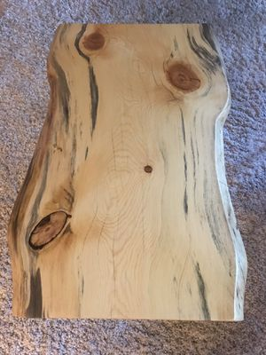 Live edge coffee table with matching end table for Sale in Kirkland, WA