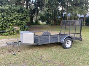 10 x 12 utility trailer with toolbox and spare tire for Sale in Winter Springs, FL
