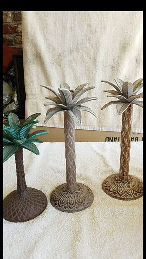 "CANDLE HOLDERS. SMALL IS H- 7 1/2"". LARGE IS H- 10"" for Sale in Upland, CA"