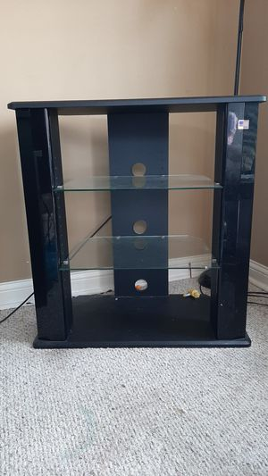 TV stand, black with 2 glass shelves. for Sale in Northwest Plaza, MO