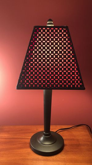 "Black Iron Lamp with shade 20 1/2"" tall - excellent condition for Sale in Castalian Springs, TN"