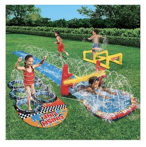 New Banzai Aqua Blast Obstacle Course Water Sprinkler Sprayer Slide Park Splash for Sale in Naperville, IL