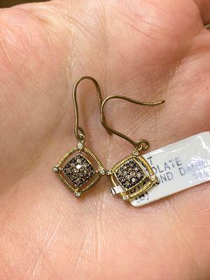 CHOCOLATE DIAMOND EARRINGS for Sale in Oldsmar, FL