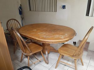 Oak kitchen table for Sale in Huntington Park, CA