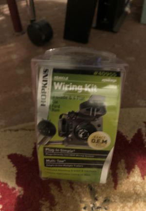 Hopkins vehicle wiring kit for Gm Ford Ram 7 blade & 4 flat for Sale in Burlington, NJ
