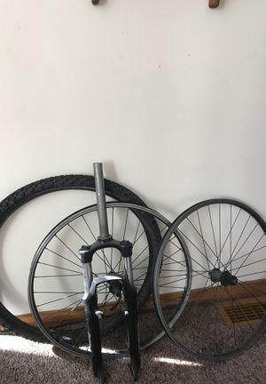 TREK 4300 Mountain Bike Wheels/Tire and Fork for Sale in Hammond, IN
