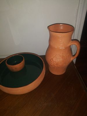 Pottery Pueblo serving bowl pitcher dish nachos southwestern for Sale in Clarksville, TN