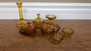 Antique Glass Vanity Set for Sale in Rancho Cordova, CA