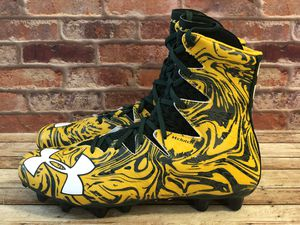 Under Armour UA ClutchFit Clutch Highlight Hi Top Football Cleats Shoes Yellow Green Men's Size 10 for Sale for sale  Bakersfield, CA