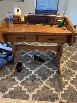 DESK Old Antique Solid wood for Sale in Lacey, WA