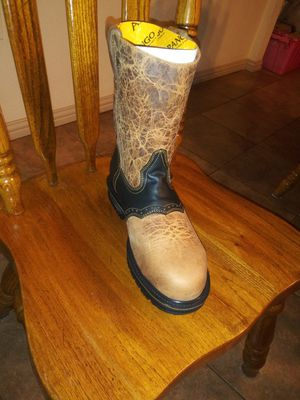 Work boots steel toe/con casco for Sale in Garland, TX