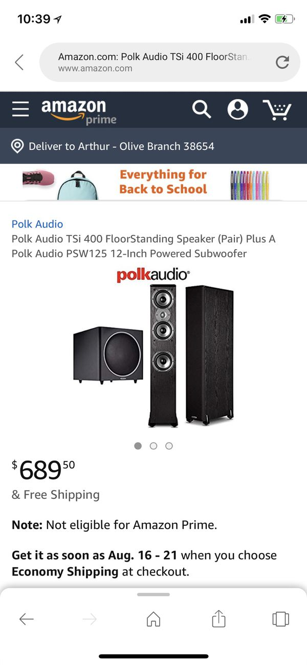 POLK AUDIO TSi400 HOME THEATER PACKAGE for Sale in Olive Branch, MS -  OfferUp