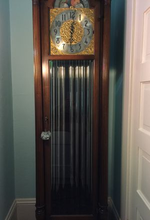 Antique tall case Grandfather clock. Fred C Brown co repaired for Sale in Portland, OR