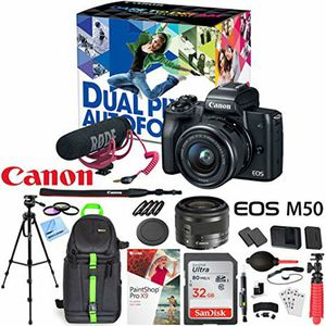 Canon EOS M50 mirrorless lense kit for Sale in Smithfield, VA
