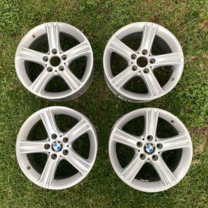 "4 BMW silver 17"" alloy 5-spoke wheel rims F30 F31 F32 F33 F36 6796242 OEM 393 for Sale in Houston, TX"