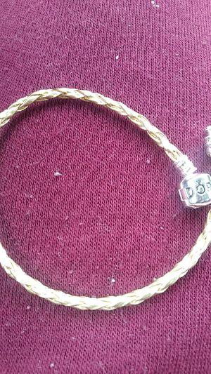 Pandora style gold leather bracelet for Sale in Malden, MA