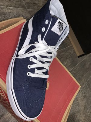 Navy blue high top vans for Sale in Boca Raton, FL