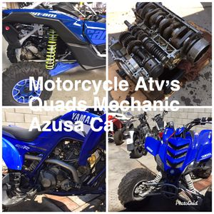 Motorcycle. Atv.s Jet Sky. Mechanic Azusa Ca Pic up and Deliver for Sale in Irwindale, CA