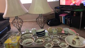 All sorts of Dishes and 2 Brand New Lamps for Sale in Mesa, AZ