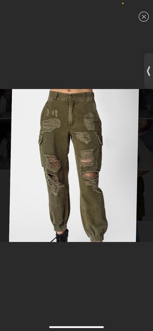 Carmar Denim Baggy Grinded Cargo Pants SIZE 10 for Sale in Pinecrest, FL