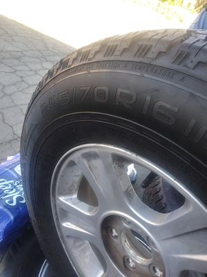 245/70/16 for rim an tires for Sale in Riverside, CA