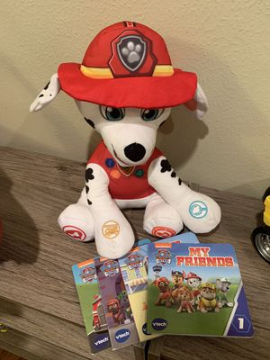 Paw patrol Marshall read along stuffed animal for Sale in Houston, TX